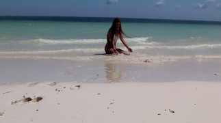 jugando playa